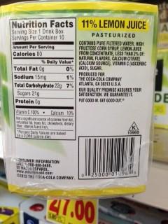 Minute Maid Light Lemonade Nutrition Facts Www Lightneasy Net